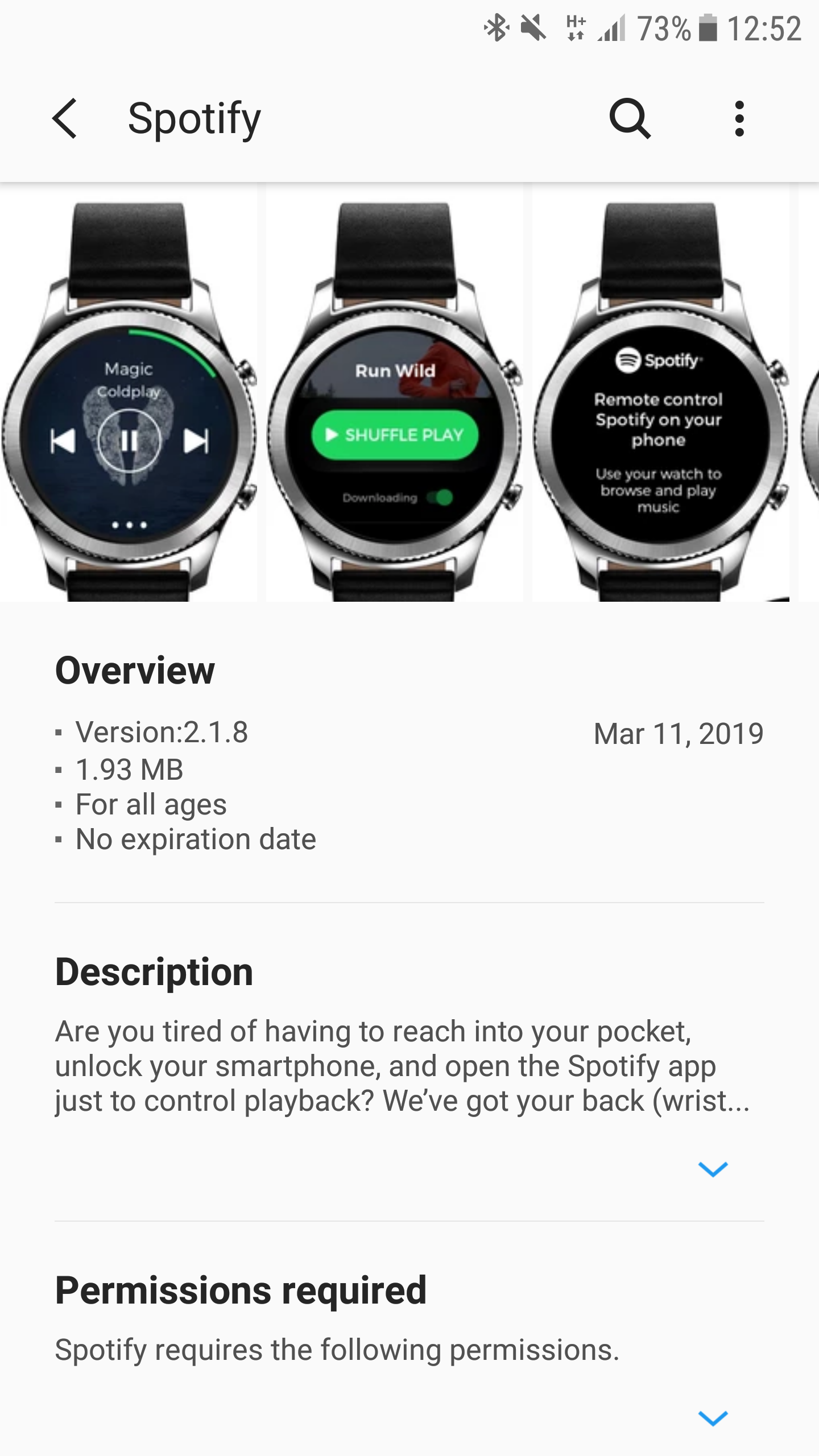 Galaxy watch - cannot connect to spotify on your p    - The Spotify