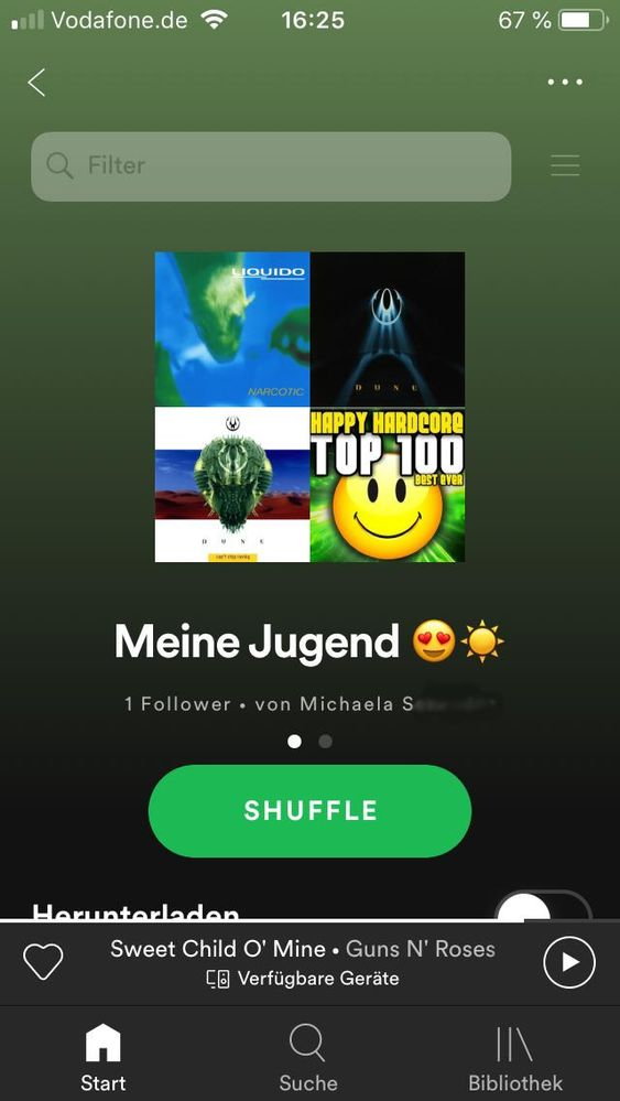 This is a playlist in Spotify by her.
