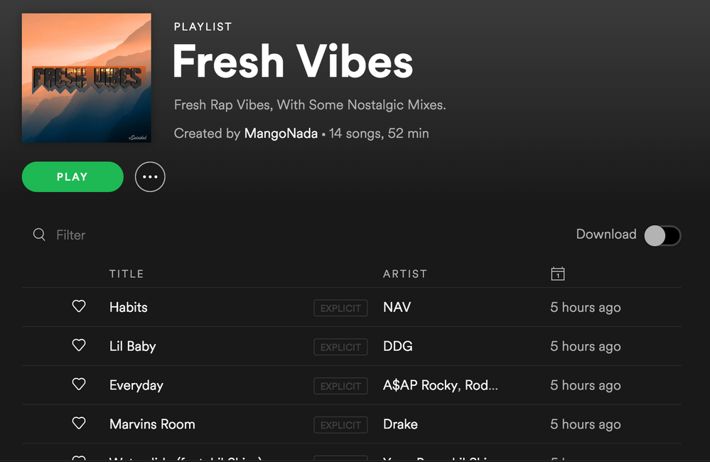 Vibey Rap Songs, With A Mix Of Nostalgic Songs - The Spotify