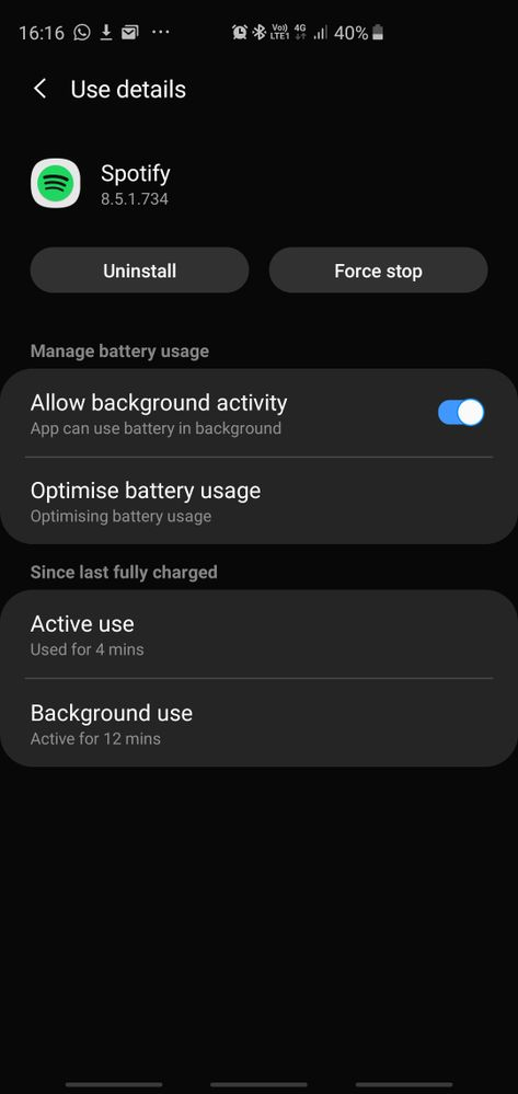 I had this issue too, just go to Settings, then App setting and select - Allow background activity!