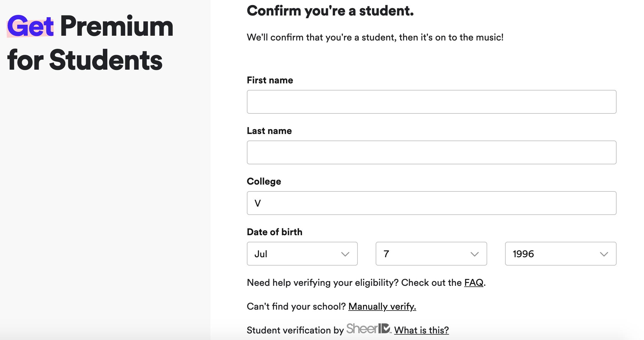 e2a85a61b Drop down glitch verify student account - The Spotify Community