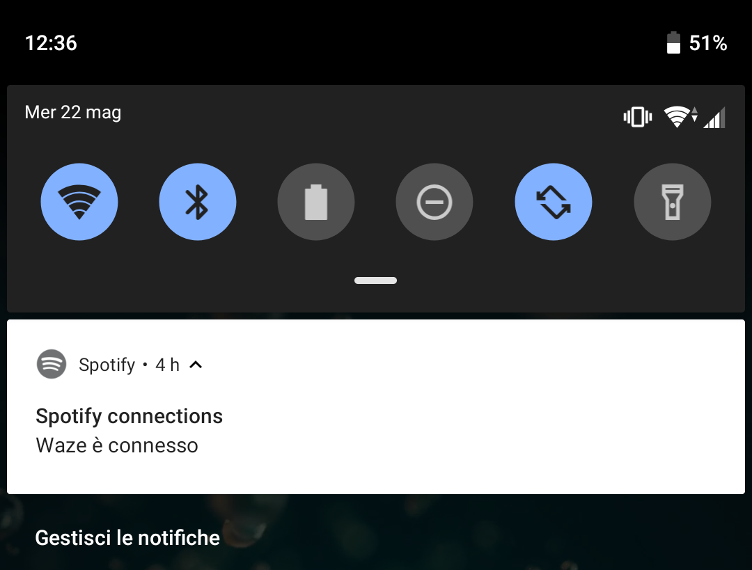 Notification: Spotify connections - Waze is connec    - The