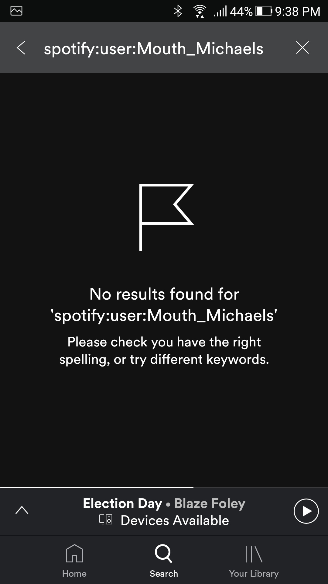 Solved: Username is not appearing in searches - The Spotify