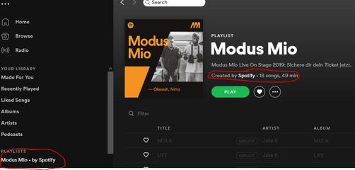 Playlist included automatically