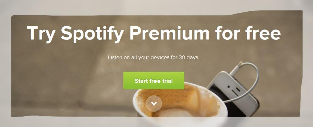 try spotify premium for 30 days free