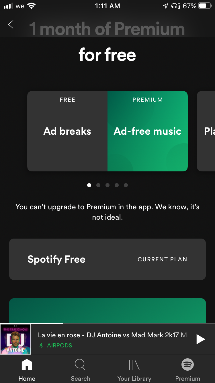 Solved I Can T Upgrade To Premium The Spotify Community