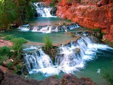 Keanu: ''This picture was taken in Havasupai Falls in Arizona. This falls in particular is called Beaver Falls.''