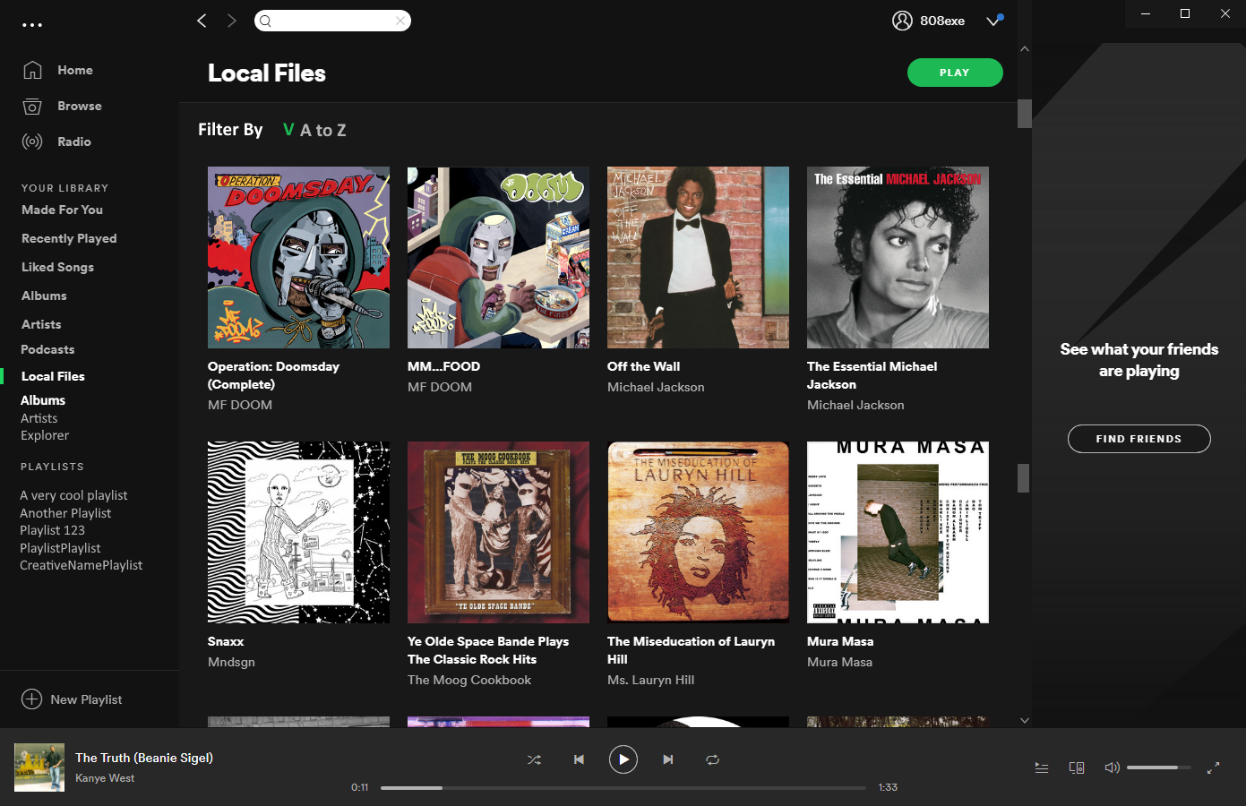 Allow us to view local files by the album - The Spotify ...