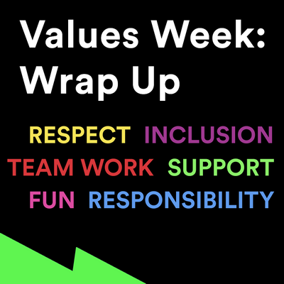 Values Week: Wrap up