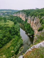 Canyon by a river about 100 kilometers northeast of Sophia