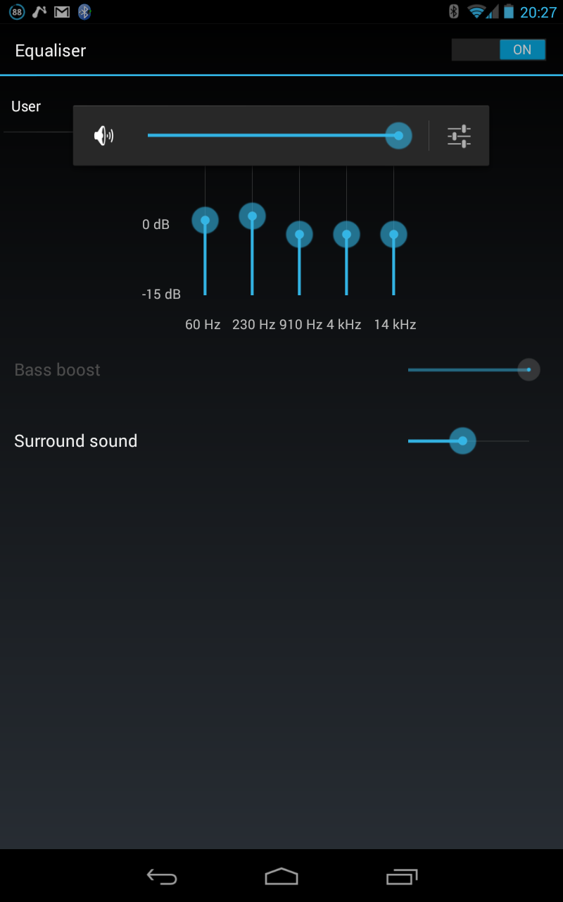 Solved: Audio Effects>Bass Boost greyed out on Google Nexu    - The