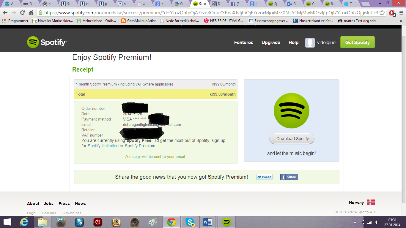 Subscribed, but not getting Premium? - The Spotify Community