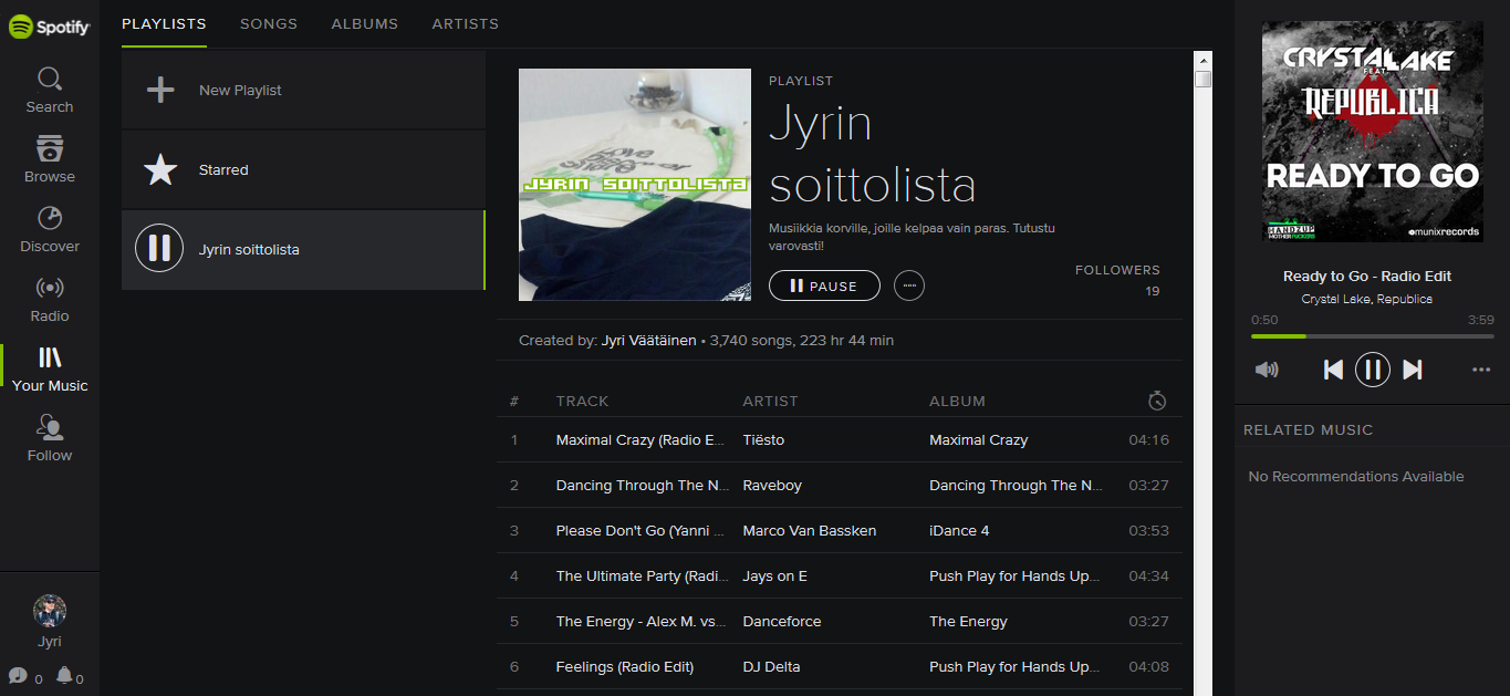 web.spotify player