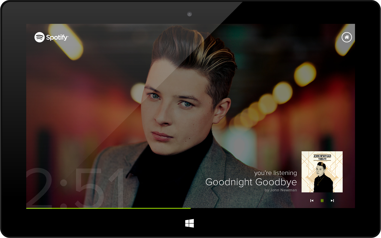 Spotify UI ideas for Windows 8 and Windows Phone - The