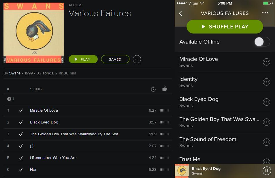 variousfailures