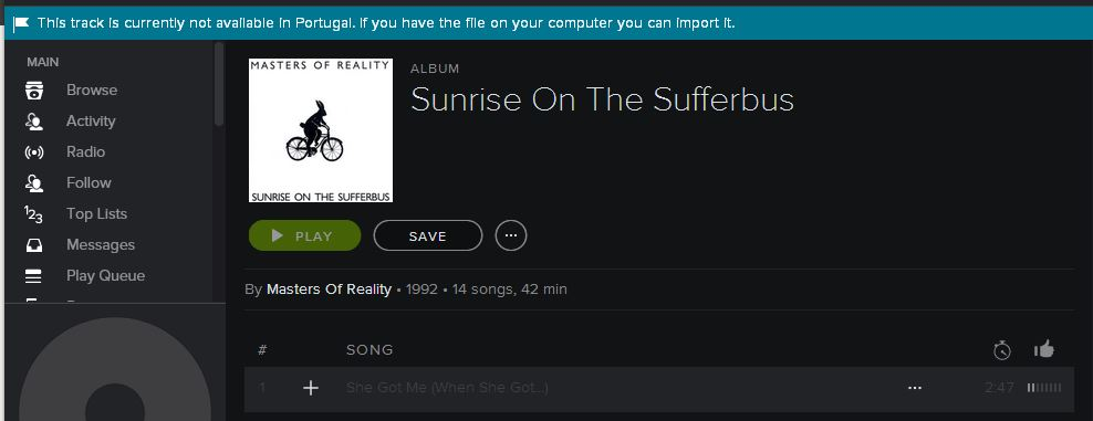 Solved Country Restrictions The Spotify Community