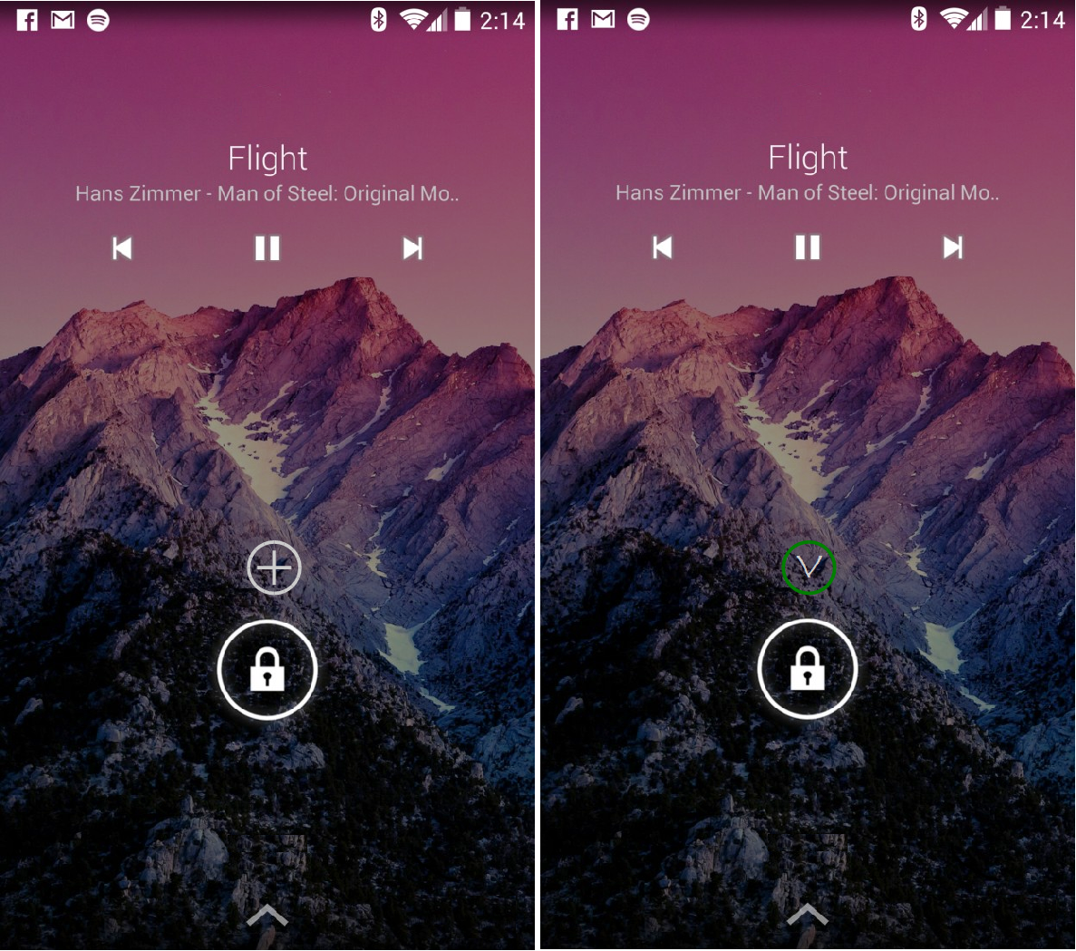 how to show spotify on lock screen