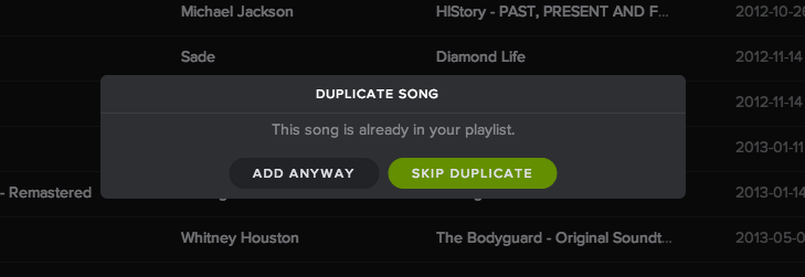 Way to prevent duplicates in playlists  - Page 5 - The