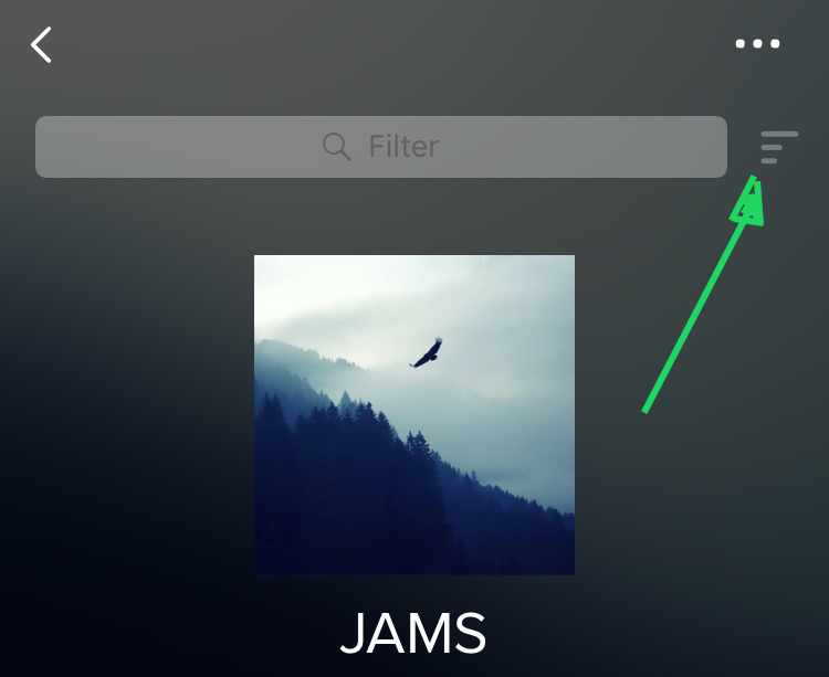 how to change song order on spotify