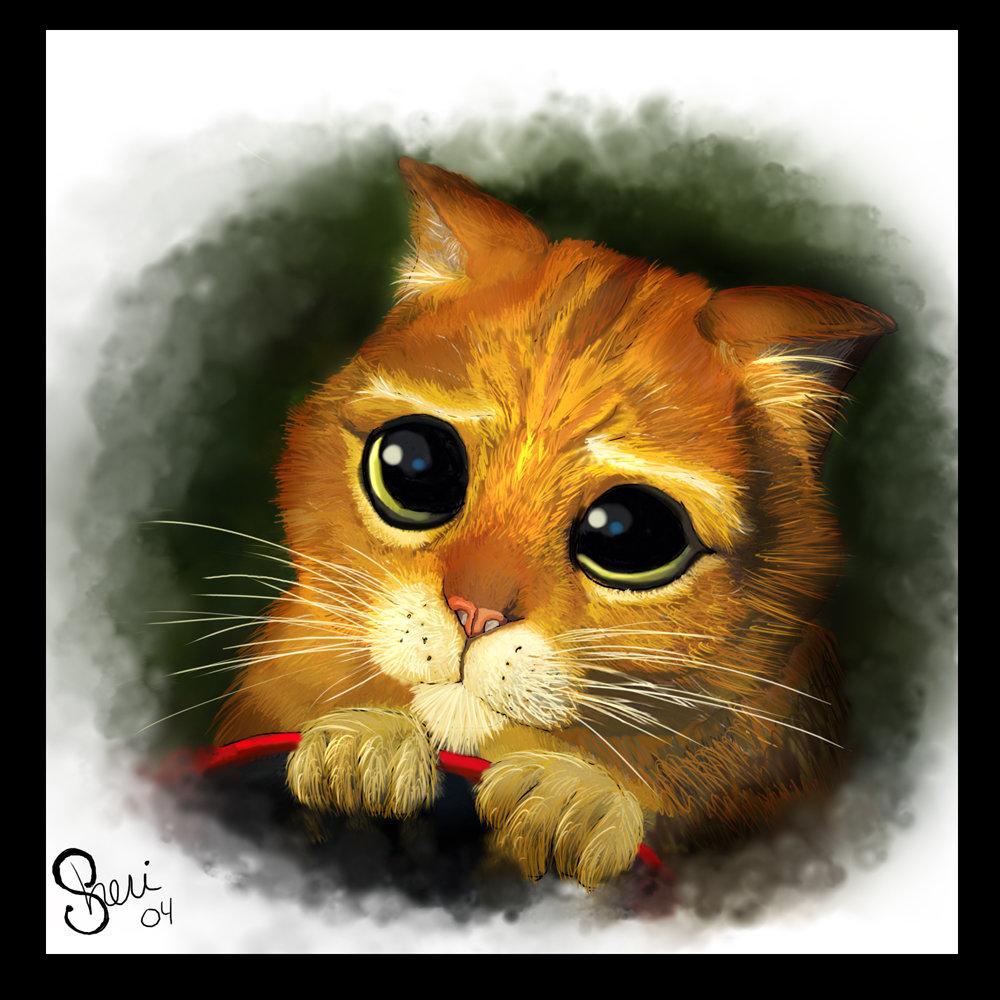 Картинки анимация кот из шрека, пожарный надзор открытки