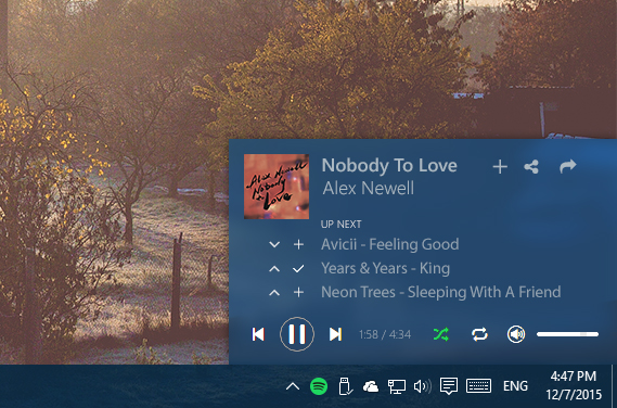 Desktop] Mini Player - The Spotify Community