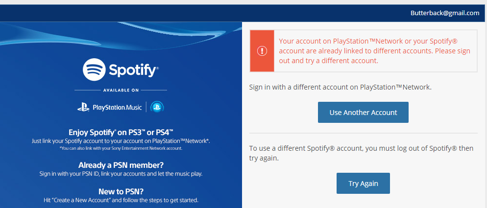 Solved: Unlinking spotify and playstation - The Spotify
