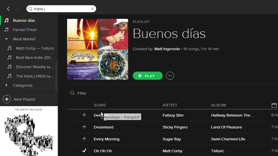 Solved: Playlist order on mobile device - The Spotify Community