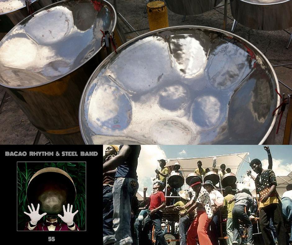 Get into steel drum music...