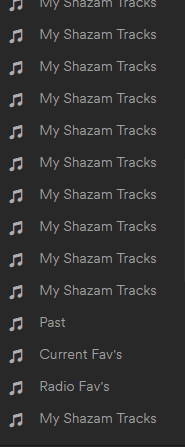 Multiple Shazam Playlists.PNG