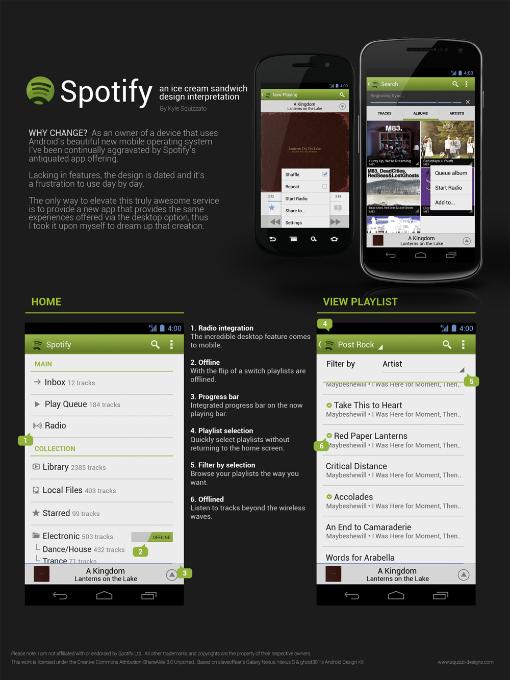 Some suggestions for a new Android App (with ICS s    - The Spotify