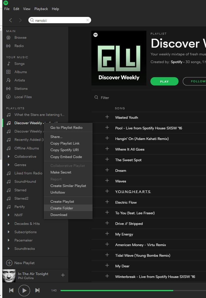 Solved: Playlist Folder - The Spotify Community