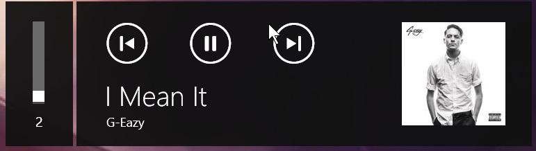 Solved: Windows 10 - Left corner song banner (pause,stop