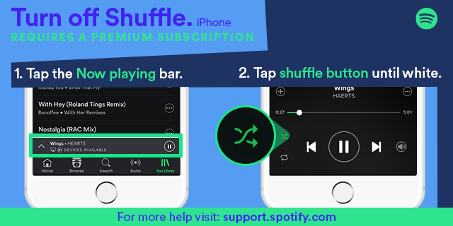 Shuffle will not turn off iPad Air iOS 9 - The Spotify Community