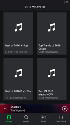 On the 2016 Wrapped Genre page