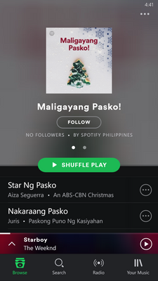 Like on this one Christmas Playlist
