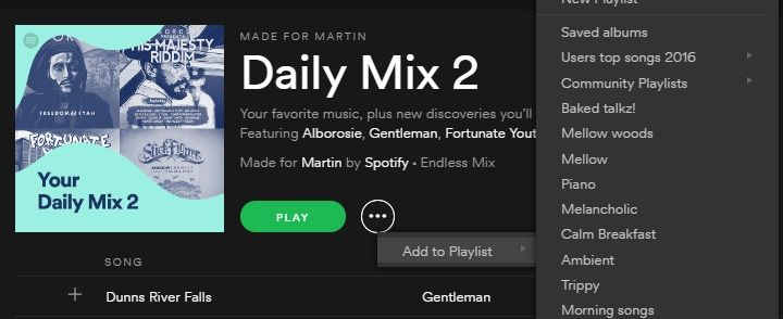 Be able to save daily mixes - The Spotify Community