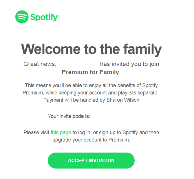 Solved Family Plan Invites Do Not Work The Spotify Community