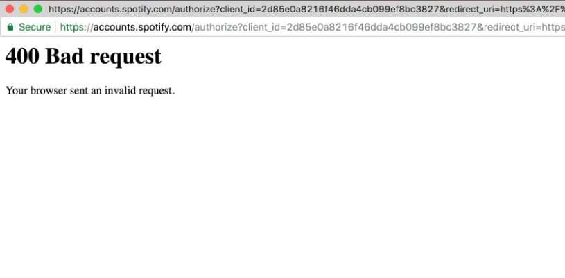Spotify OAuth giving \
