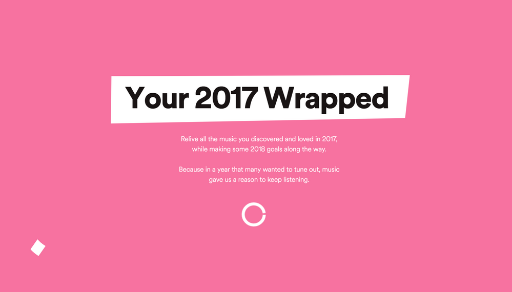 My 2017 wrapped gets stuck, no matter where i try to do it from, anyone had this problem?