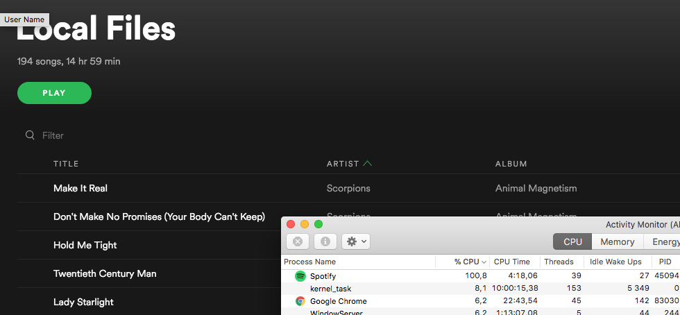 Local files, not all listes - The Spotify Community