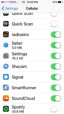 Download over cellular off, still downloads over c    - The