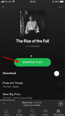 How do I toggle Shuffle on or off? - The Spotify Community