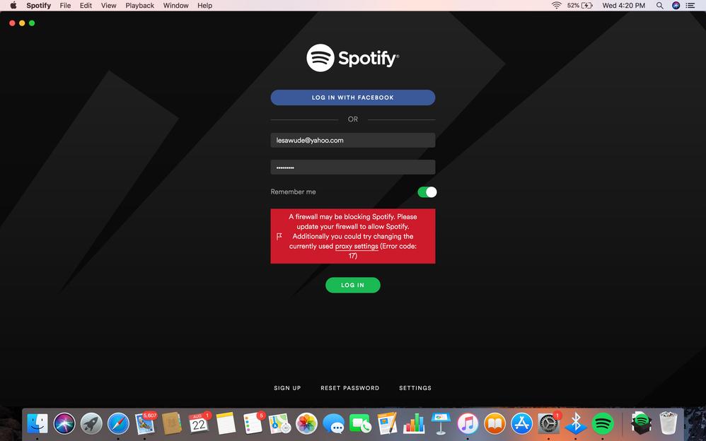 Error code 17 Spotify on Mac - The Spotify Community
