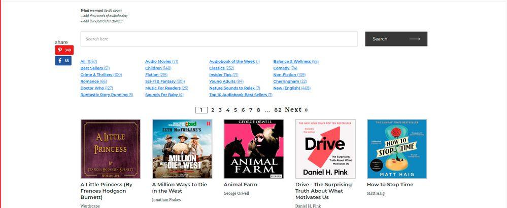 Spotify Audiobooks List