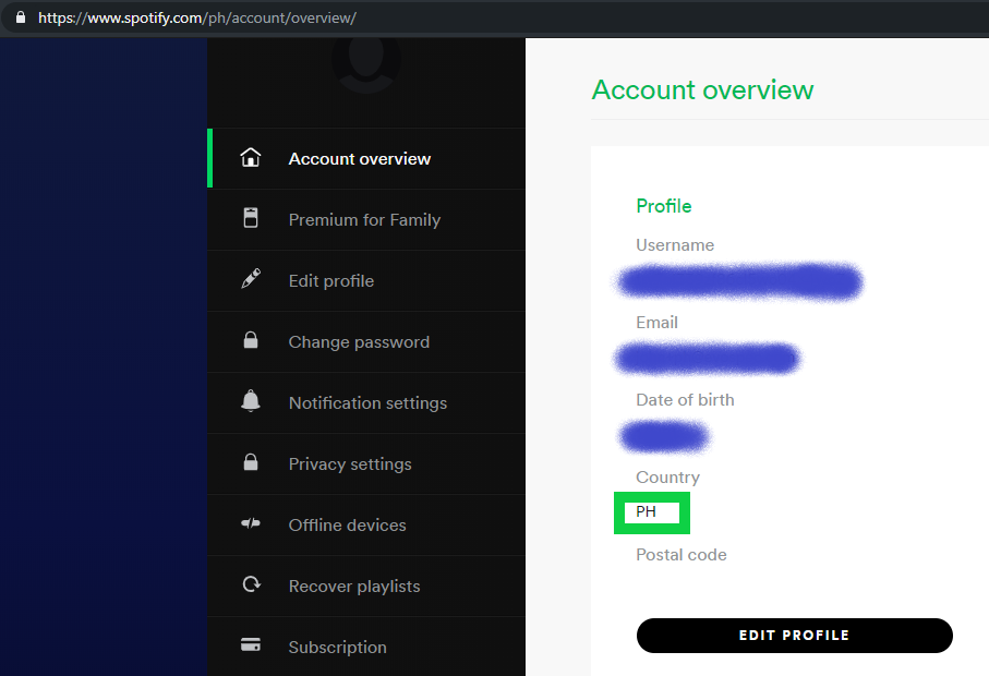 Account Spotify