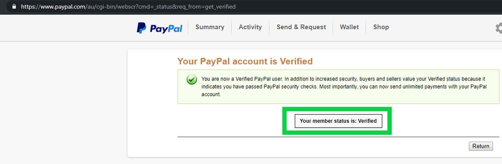 Verified Paypal