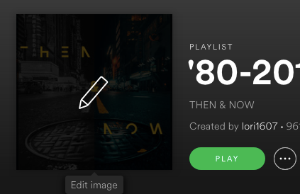 I just hover with my mouse over the playlist cover and I have the option to click