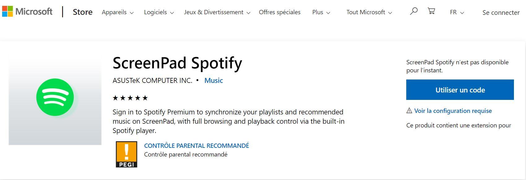 ASUS ScreenPad Spotify App Missing - The Spotify Community