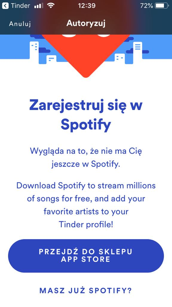 Tinder asking me to sign up for Spotify - The Spotify Community
