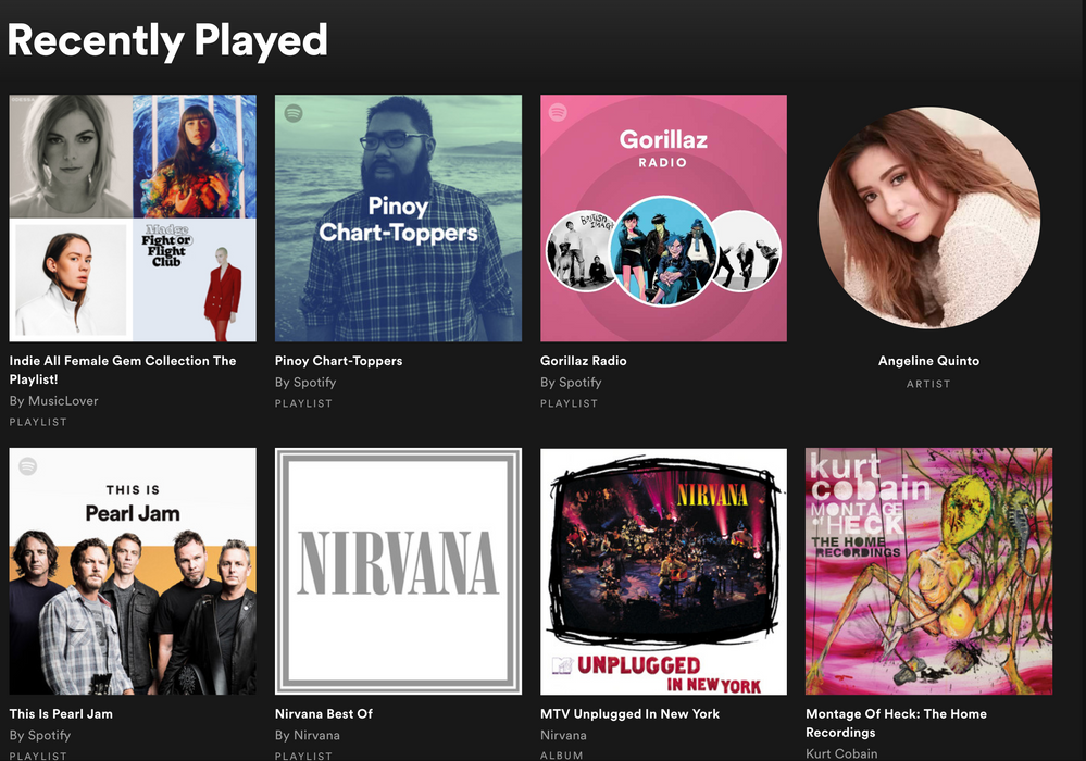 my recently played is full of weird stuff? - Page 2 - The Spotify